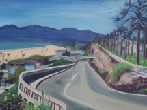 California Incline, Santa Monica oil painting landscape