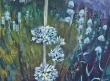 Purple Sage west hills los angeles oil painting landscape
